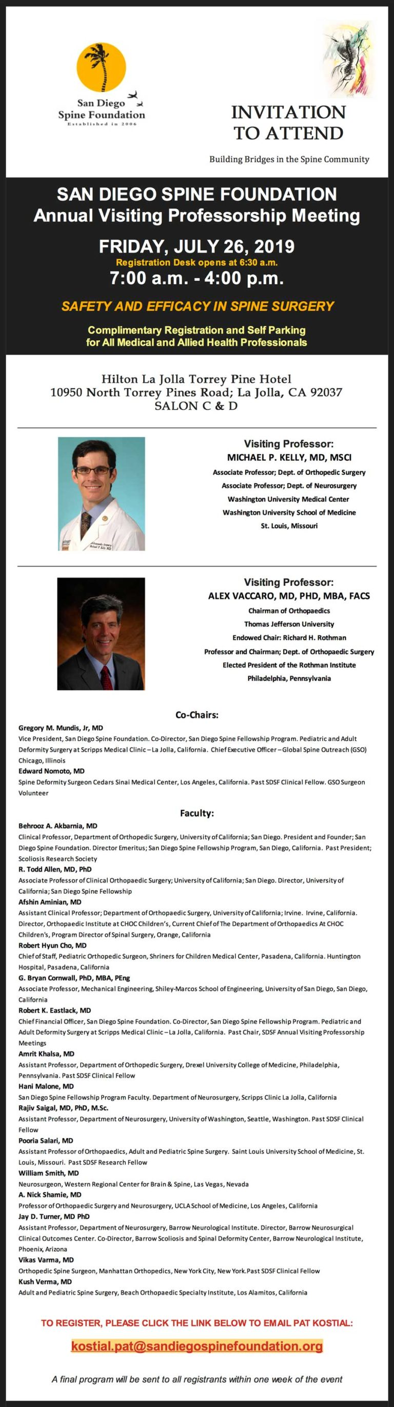 Dr Verma, faculty for a course on safety in spine surgery